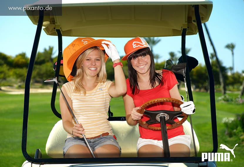 Eventmodul Foto Greenbox im Golf Cart